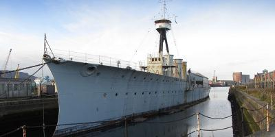 The warship preservation scene