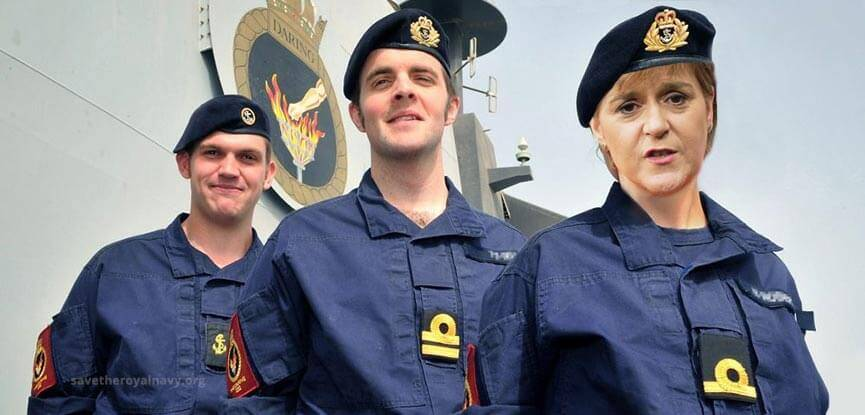 Nicola Sturgeon has left politics to join the Royal Navy