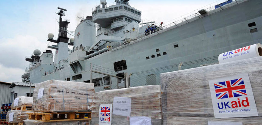 Why a portion UK overseas aid money should be given to the armed forces