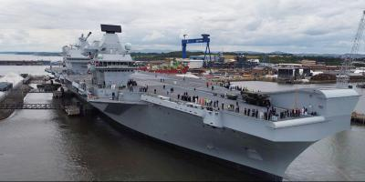 HMS Queen Elizabeth sails for the first time today. Here's the plan.