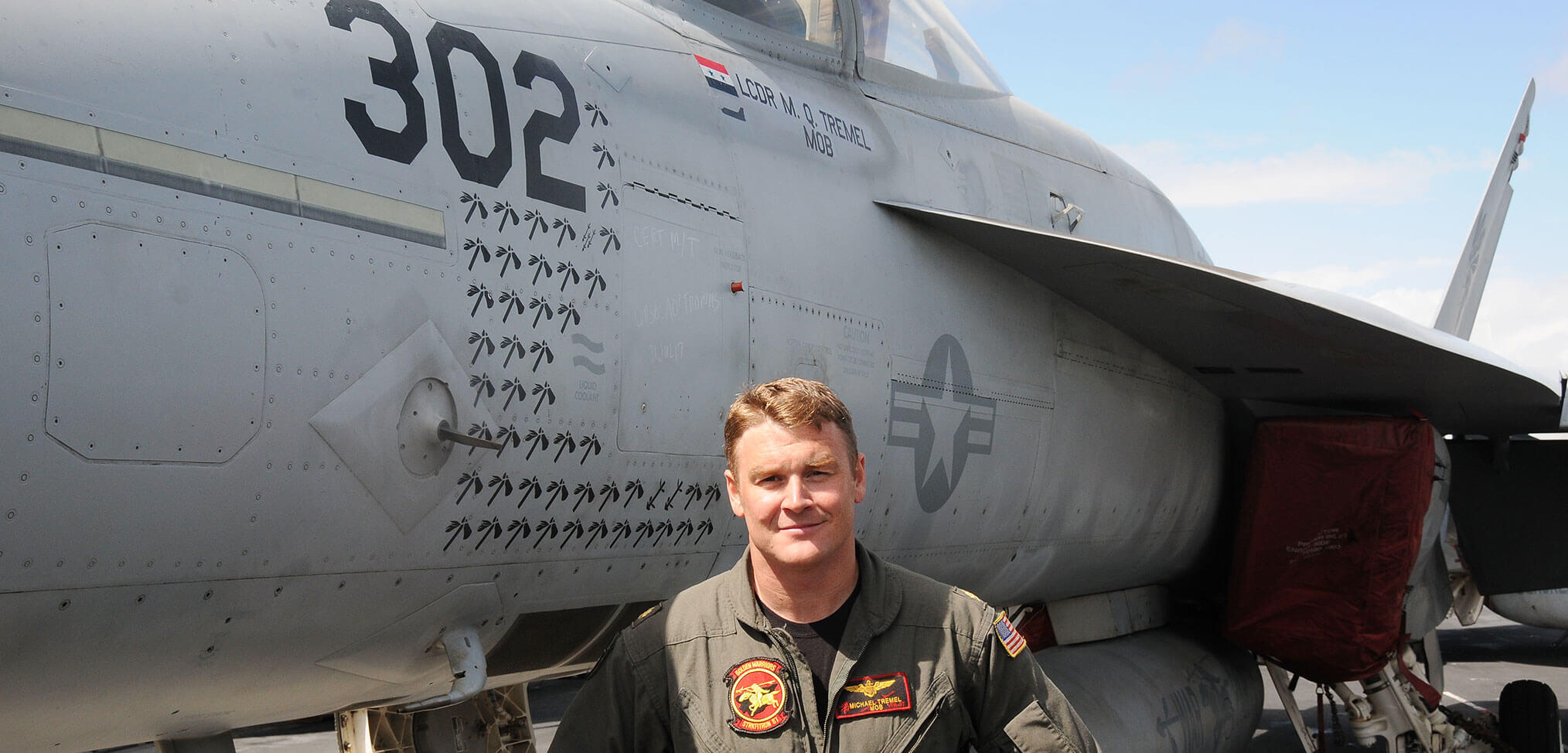 Up close with a US super carrier and the pilots fresh from combat operations