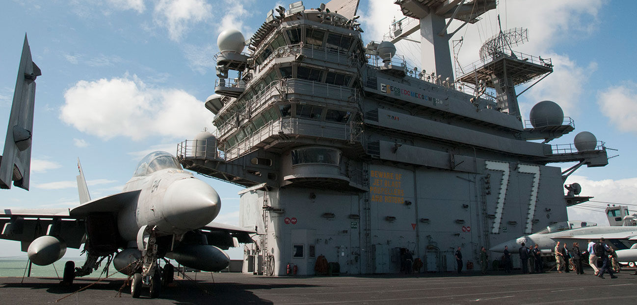 On board USS George HW Bush as she helps the RN back into the aircraft carrier game