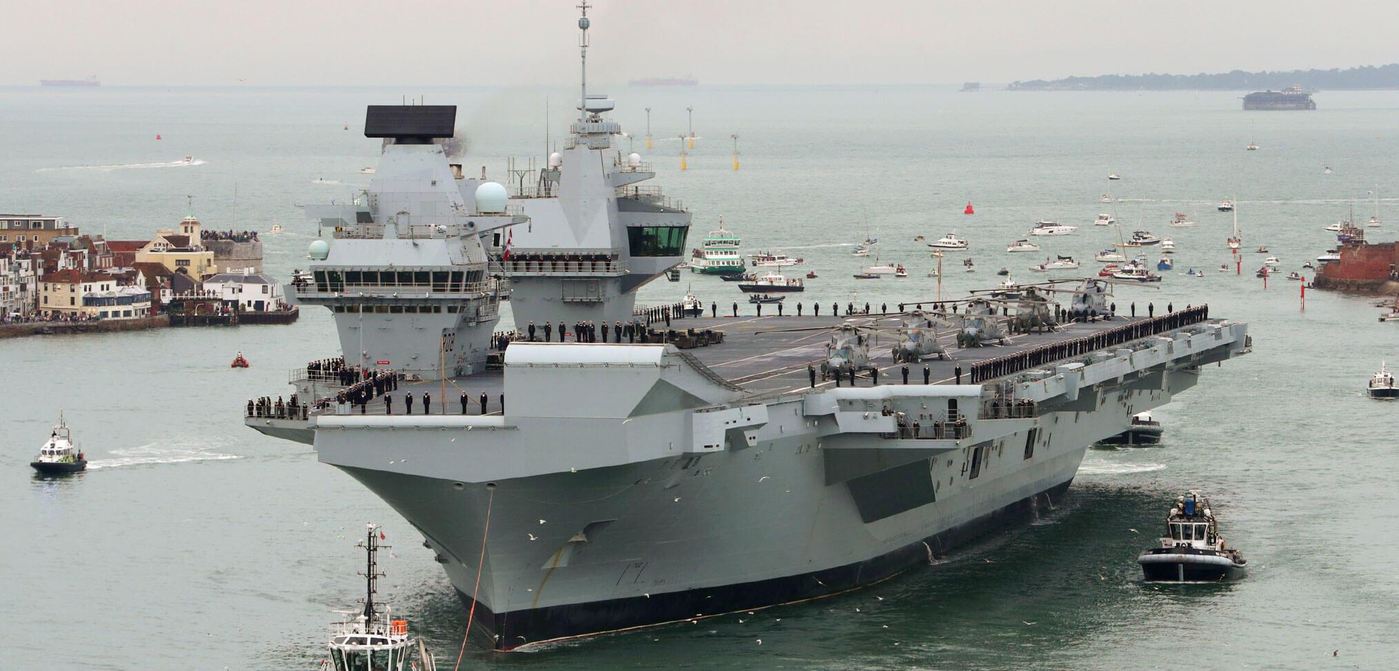 HMS Queen Elizabeth comes home – in pictures