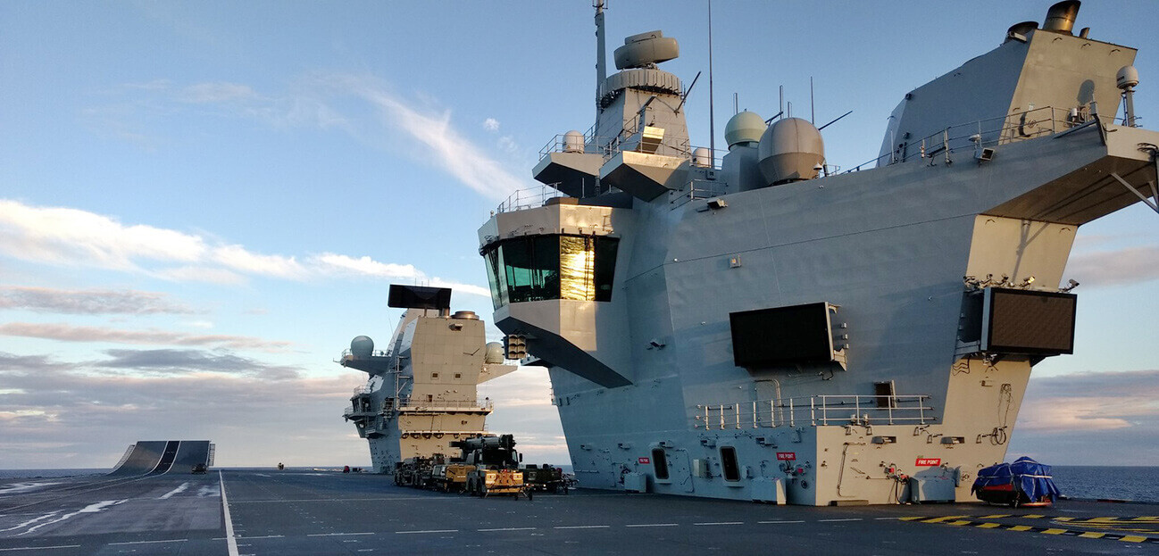 The reasons HMS Queen Elizabeth has two islands