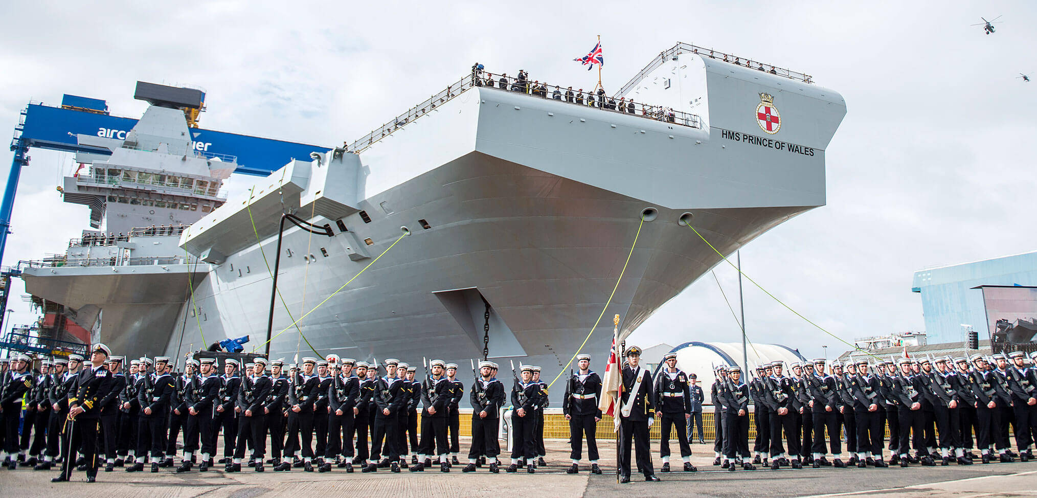 HMS Prince of Wales formally named – another step towards renewing aircraft carrier capability