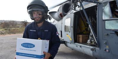 The Royal Navy's part in the UK response to Hurricane Irma