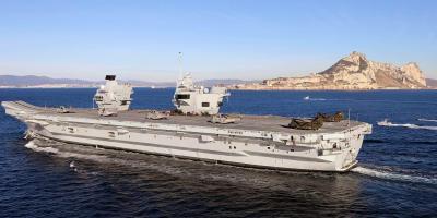 In photos: HMS Queen Elizabeth arrives in Gibraltar