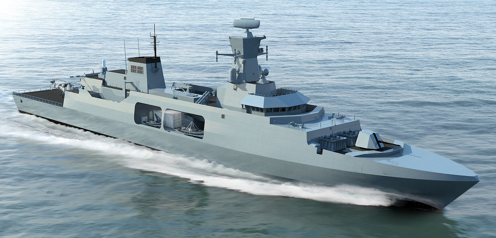 Leander concept for Royal Navy Type 31e Frigate inspires interest from British industry