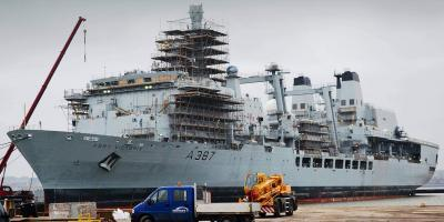 RFA Fort Victoria modified to support the aircraft carriers