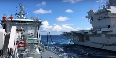 Video & photo essay: HMS Queen Elizabeth conducts first replenishment at sea