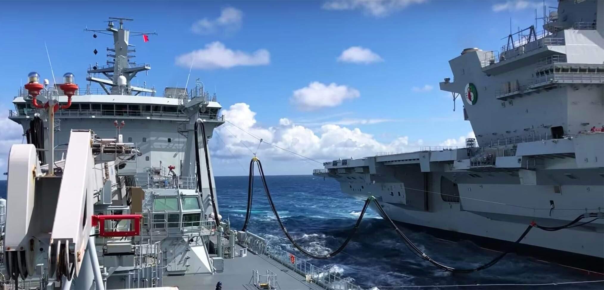Photo essay: HMS Queen Elizabeth conducts first replenishment at sea