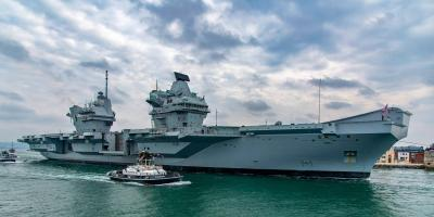 HMS Queen Elizabeth sails for part II helicopter trials