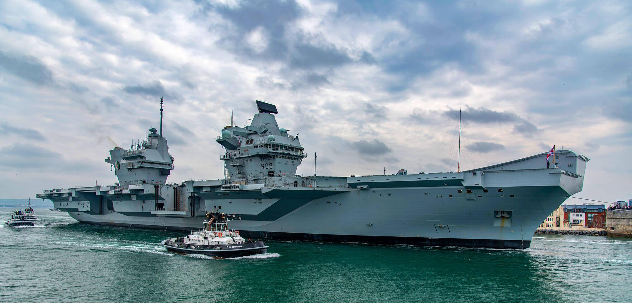 HMS Queen Elizabeth sails for part II helicopter trials