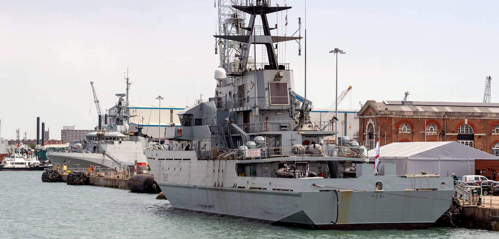 HMS Tyne returns to service after being paid off in May