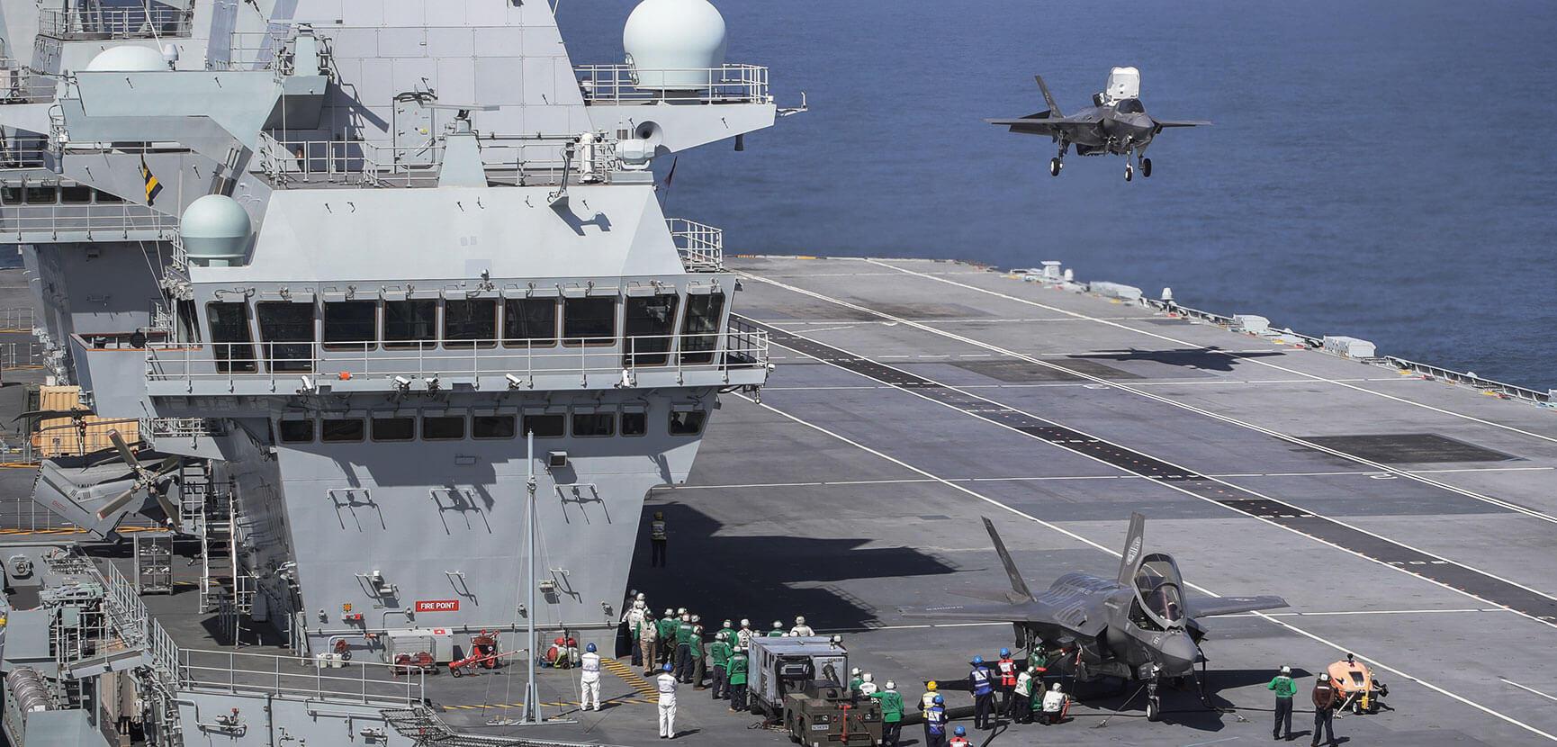 Fast jets on deck. F-35 arrives on HMS Queen Elizabeth