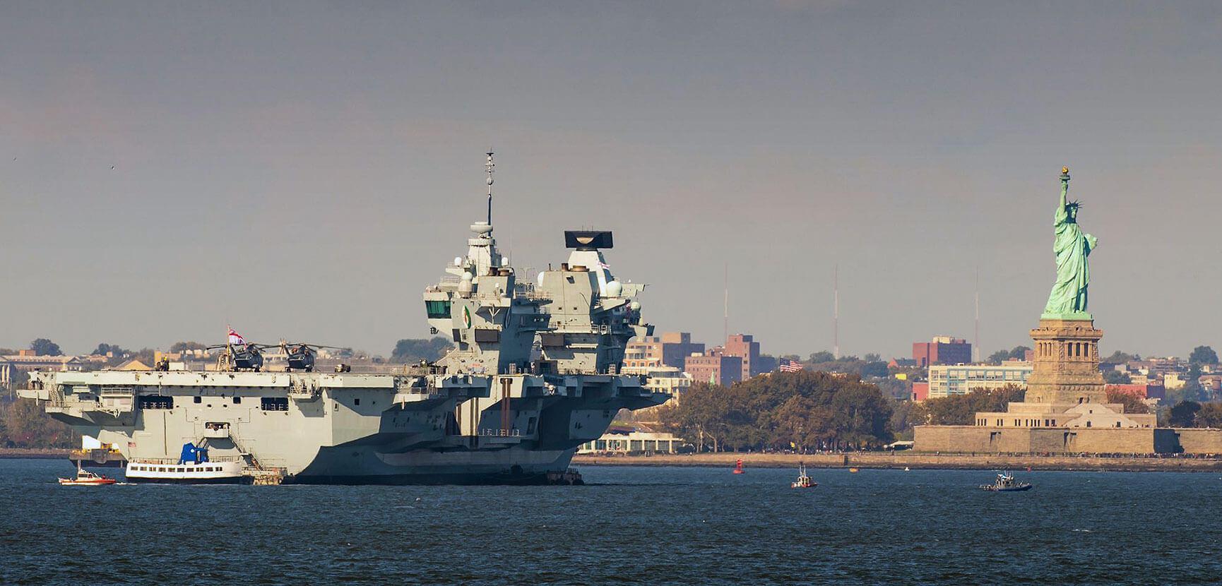 HMS Queen Elizabeth – making an impression in New York. Westlant 18 deployment – Part  5
