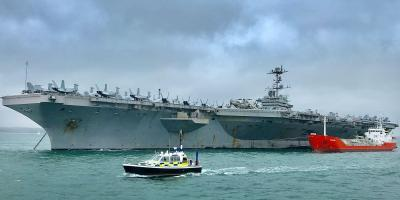 Reporting from the USS Harry S Truman as US Navy strike group visits the UK