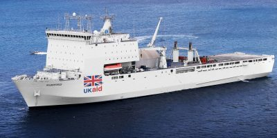 The plan for a British hospital ship gains political support