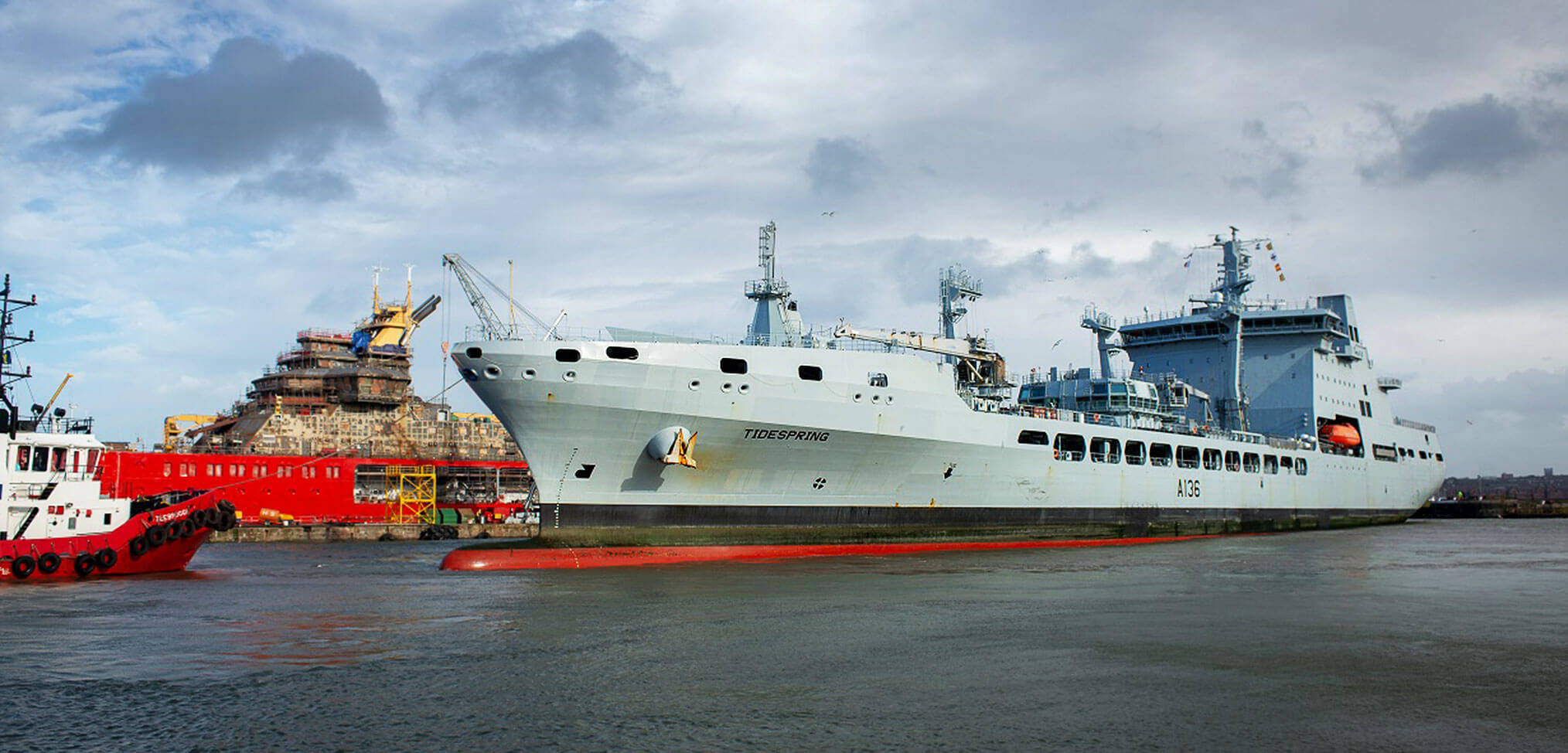 First Tide-class RFA tanker begins maintenance period at Cammell Laird