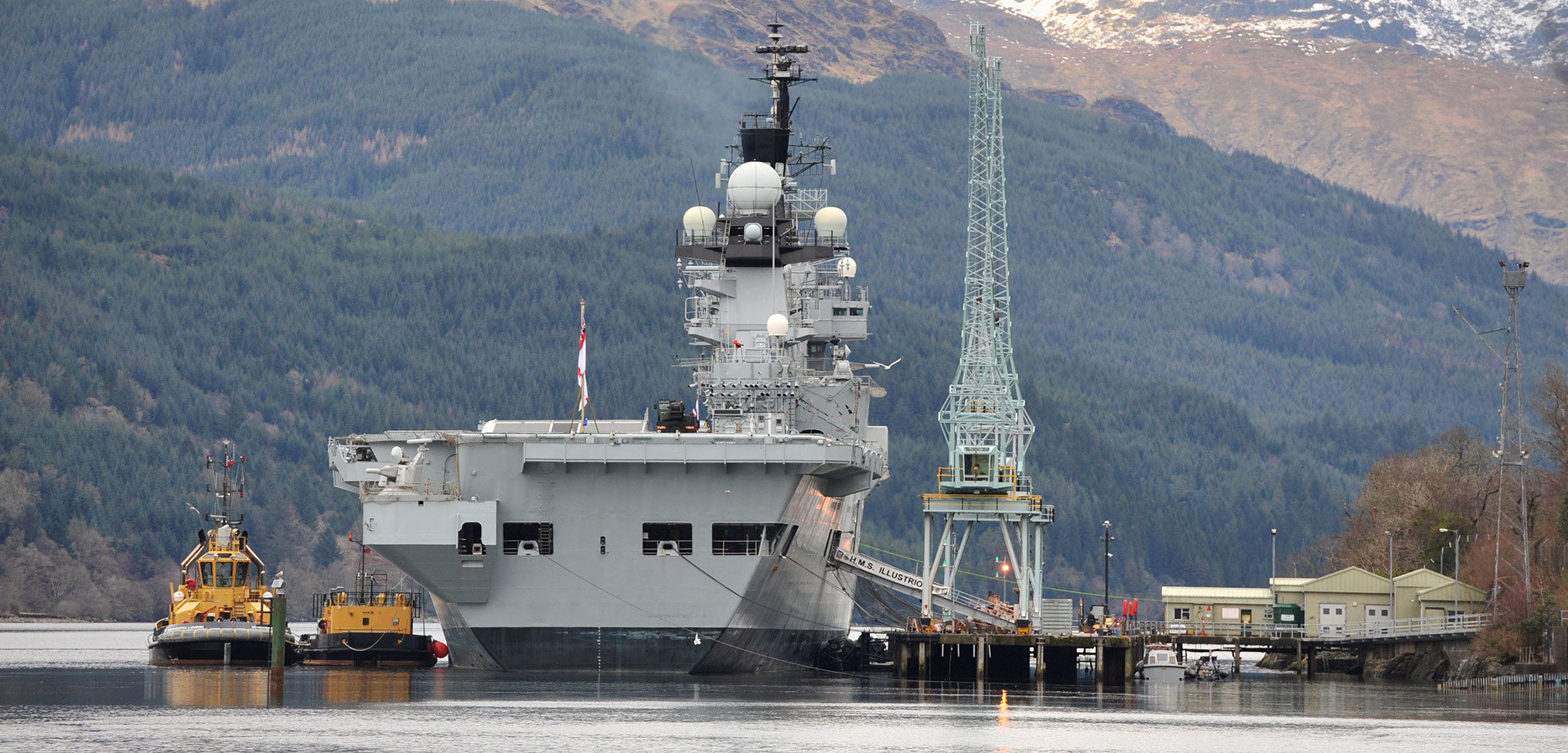 Upgrades to the Scottish facility used to ammunition the Royal Navy's aircraft carriers