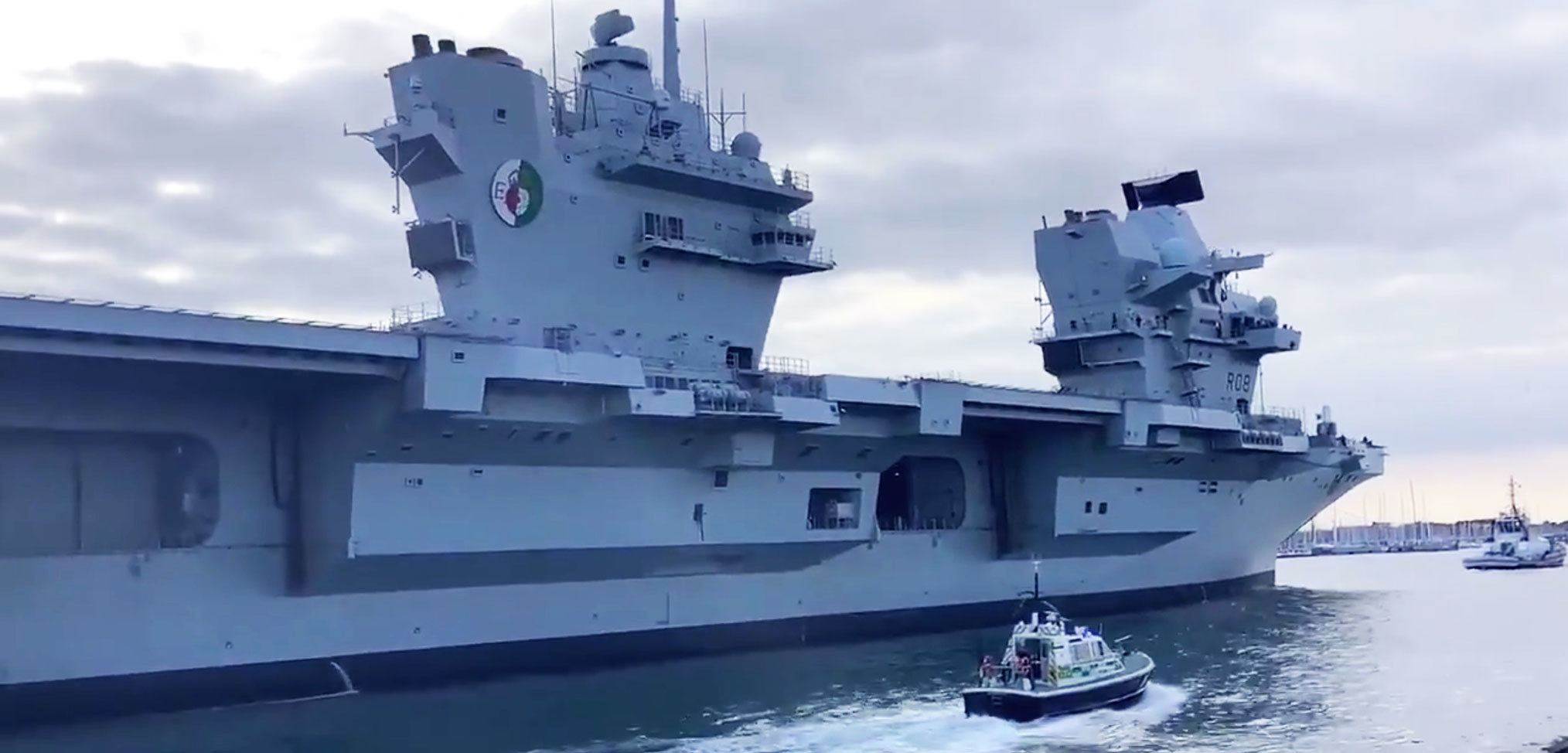 HMS Queen Elizabeth returns to Portsmouth early after suffering internal leak