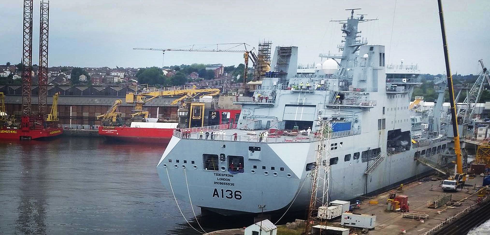 RFA Tidespring – another refit behind schedule?