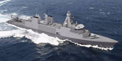 When will the first Royal Navy Type 31 frigate enter service?