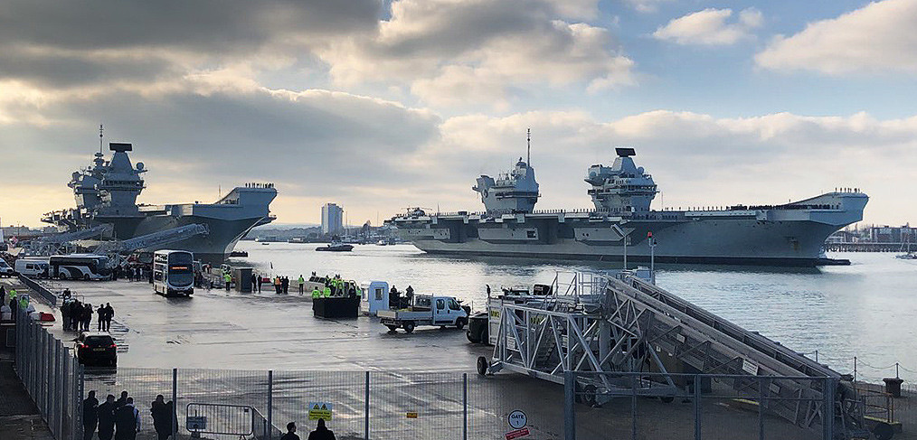 Portsmouth Naval Base – ready to support two aircraft carriers