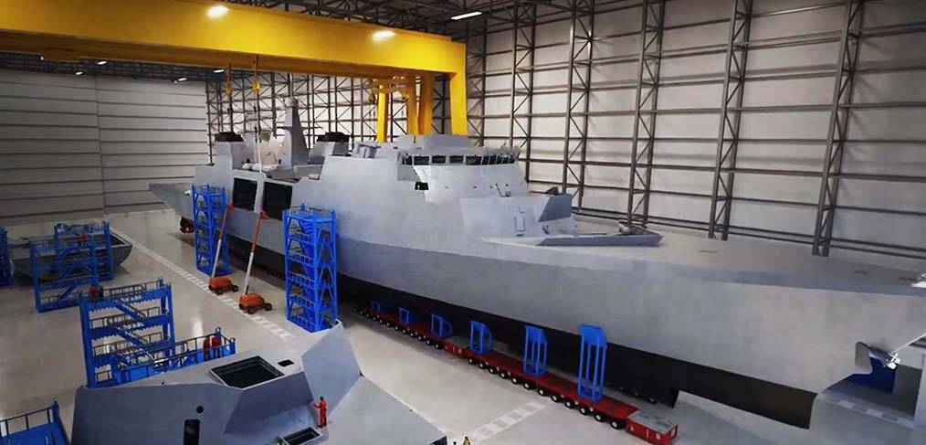 Britain gets a new frigate factory