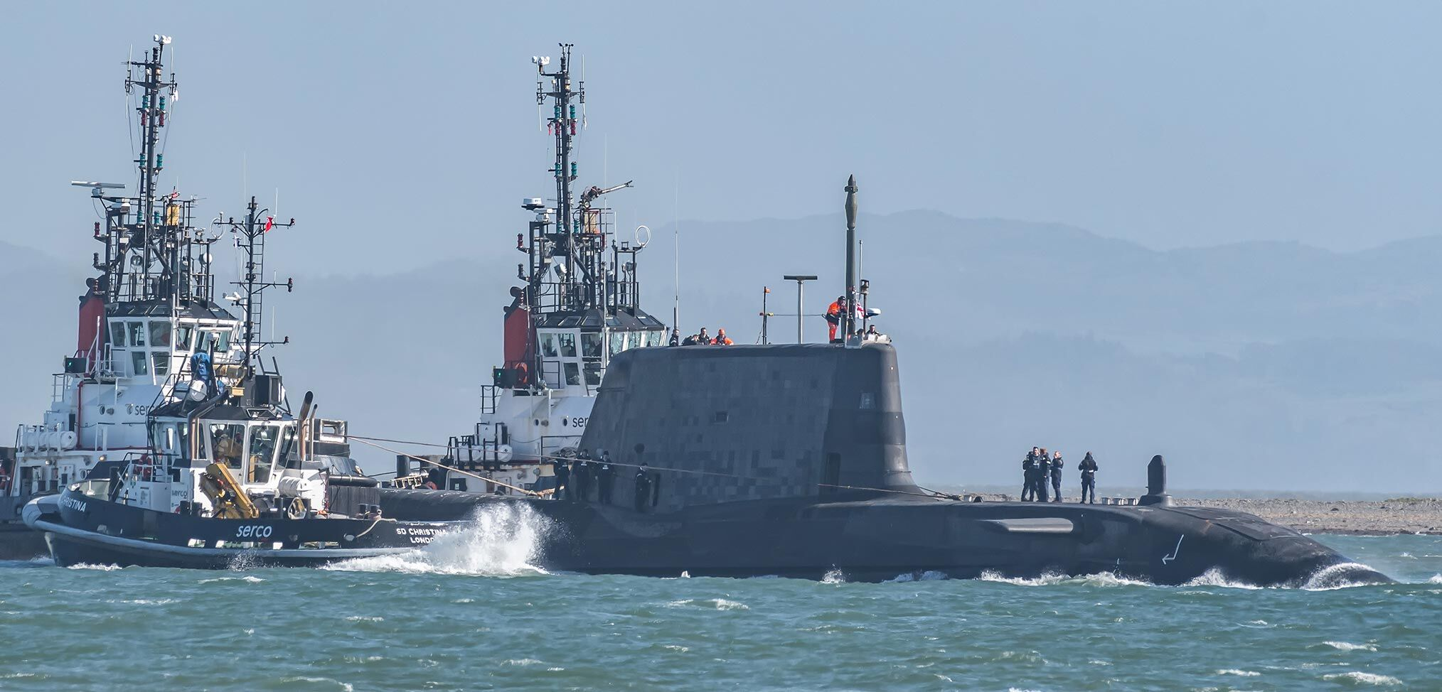 In pictures – Royal Navy submarine, HMS Audacious sails for the first time
