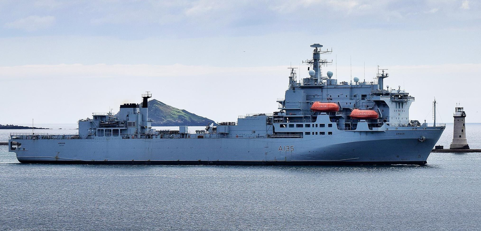 RFA Argus sails for the Caribbean today ready to provide medical support if needed