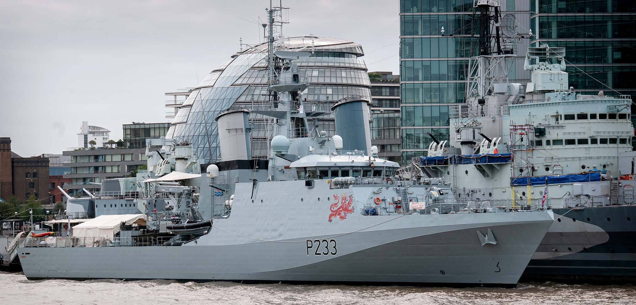 Tamar on the Thames – the Royal Navy's newest warship on show in London