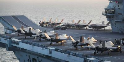 Jets on deck – HMS Queen Elizabeth embarks the largest number of F-35s at sea so far