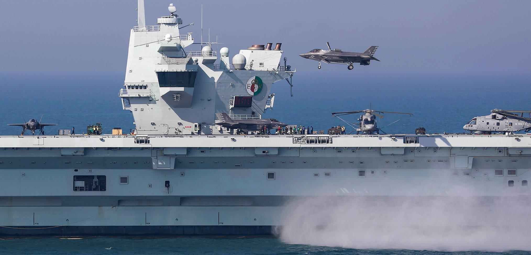 US Marine Corps reports successful integration exercise onboard HMS Queen Elizabeth