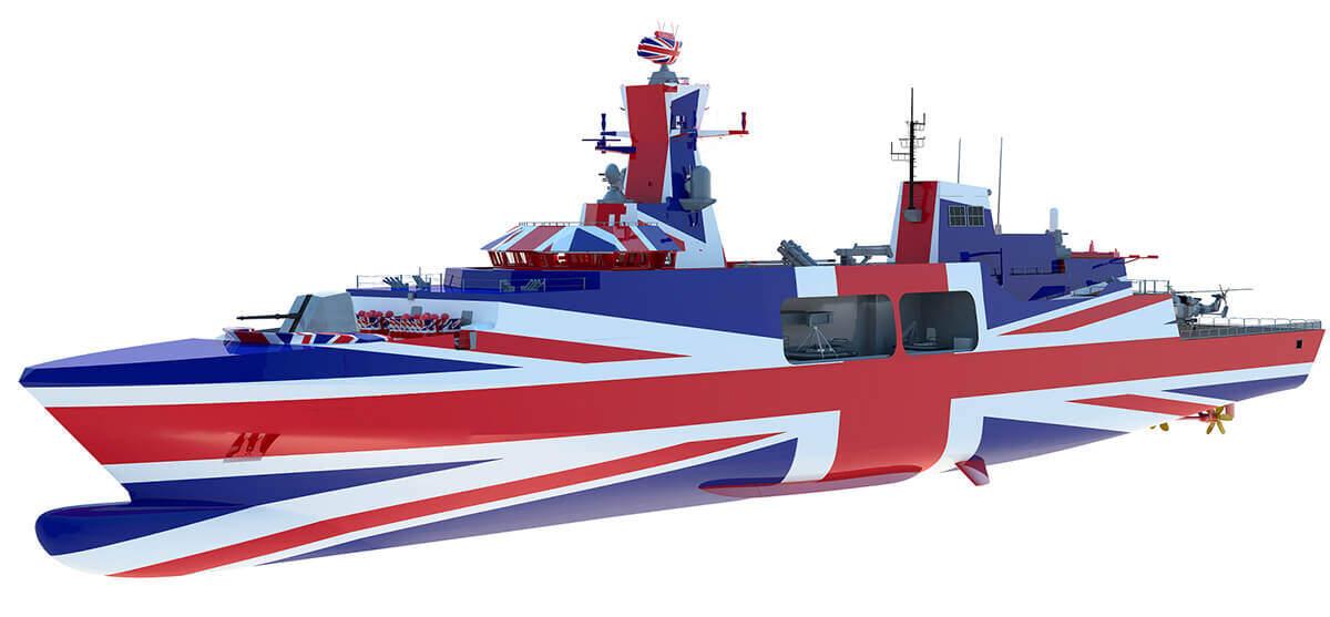 Leander concept for Type 31e frigate