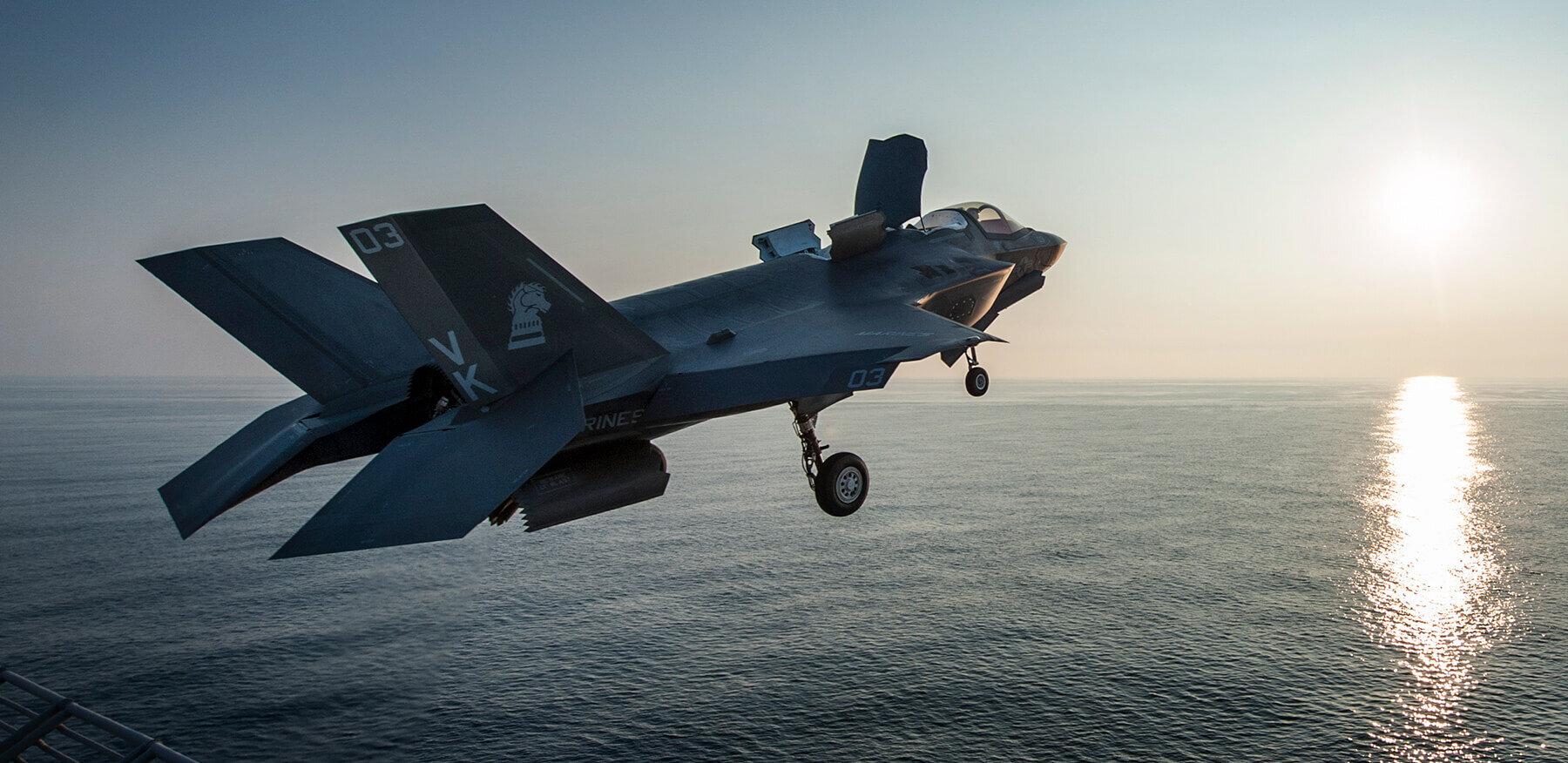 US Marine Corps F-35B take off