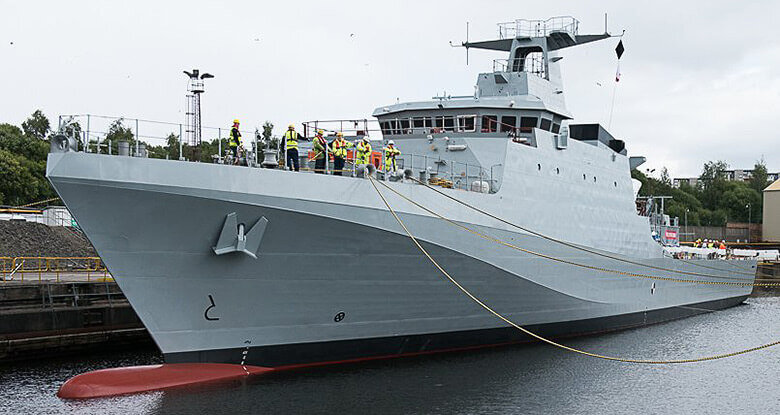 HMS Forth fitting out