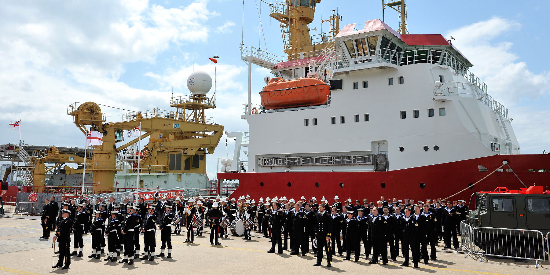 HMS Protector Commissioning Day