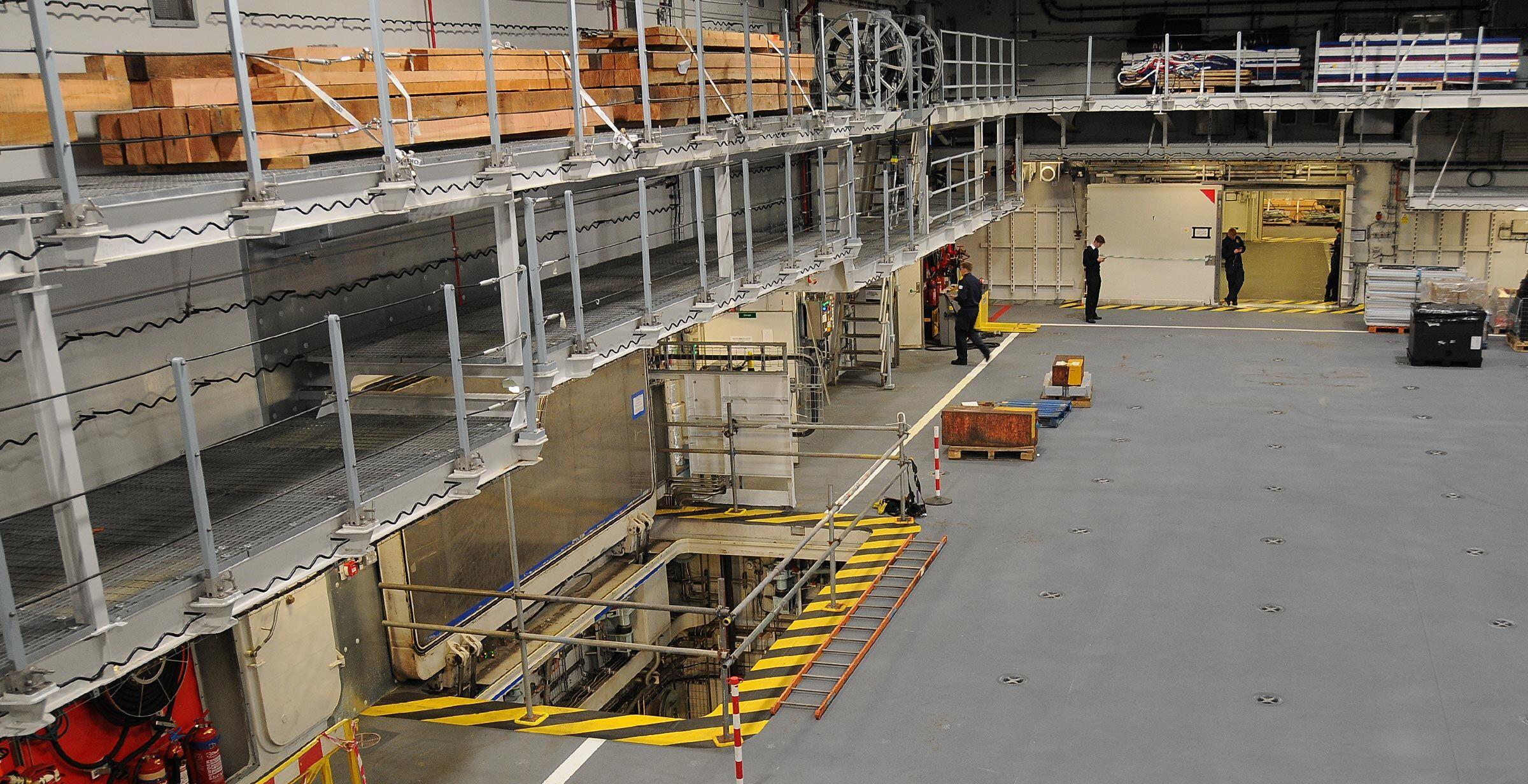 HMS Queen Elizabeth Ammunition Lift