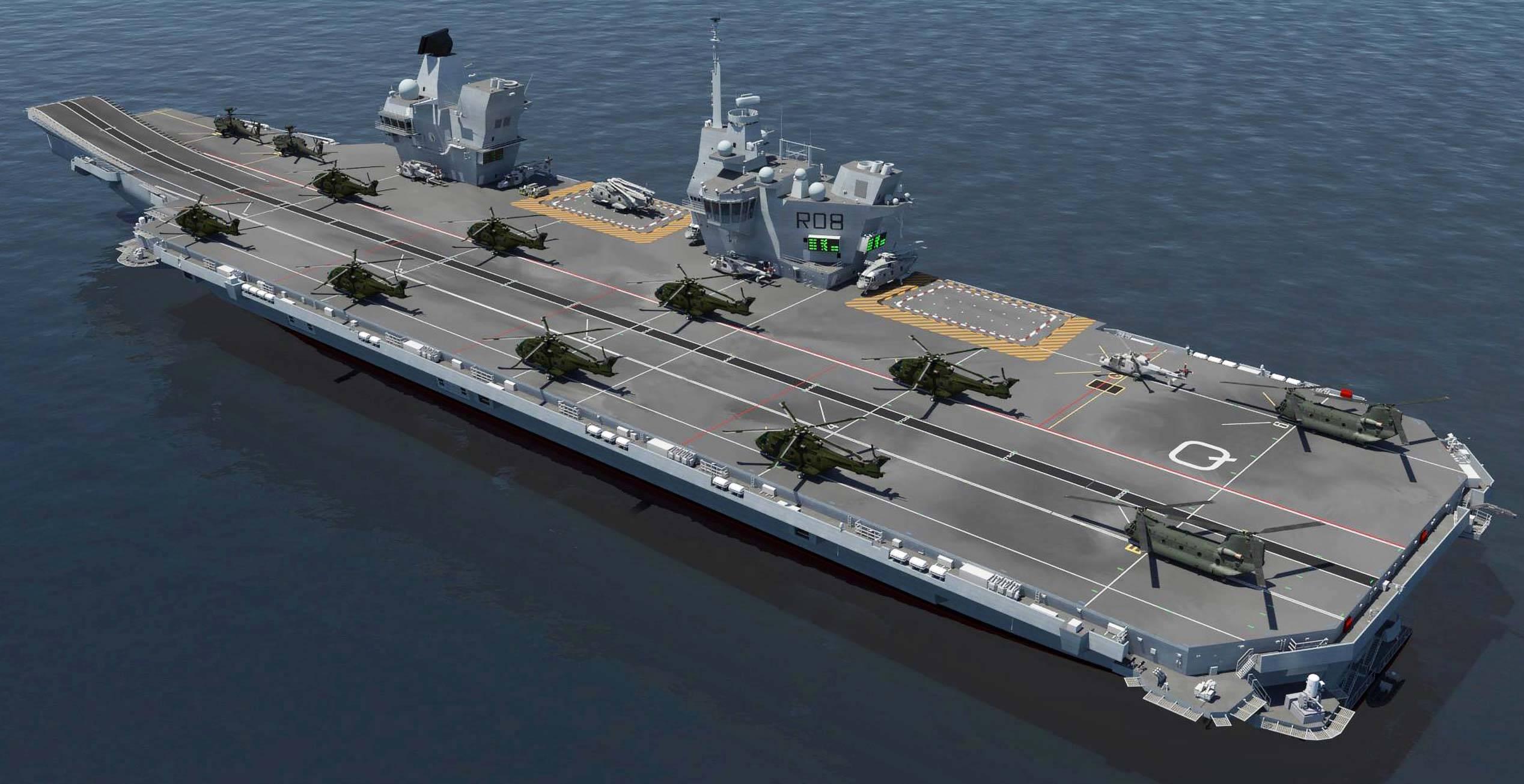 HMS Queen Elizabeth Helicopter Landing ship