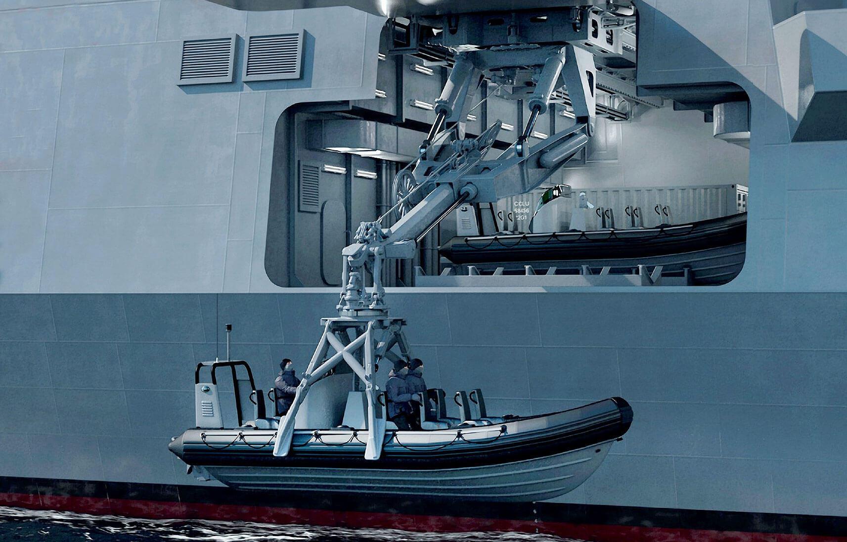 TYpe 26 Frigate Mission Bay Handling System