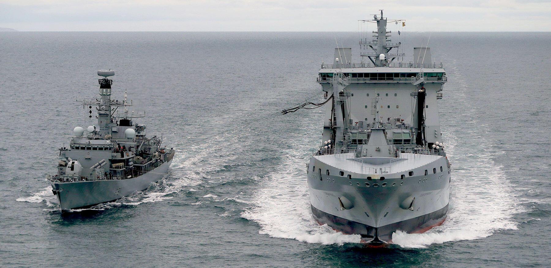 RFA Tidespring HMS Sutherland