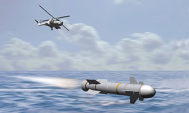 Sea Venom launched by wildcat helicopter
