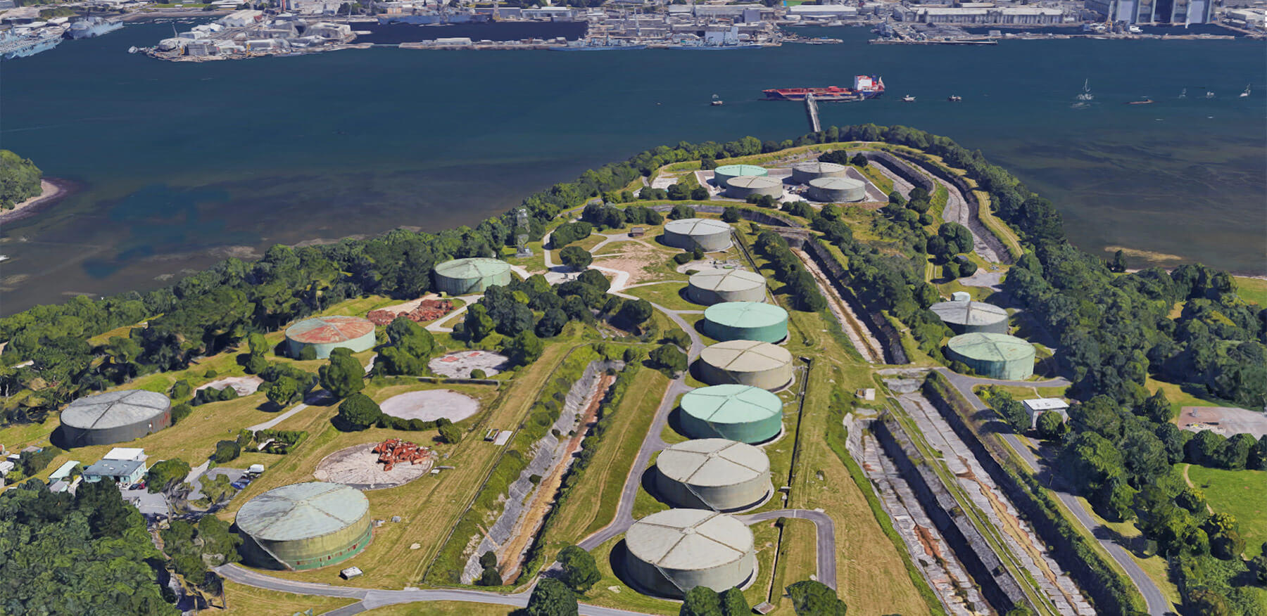 Thanckes Oil Fuel Depot, Torpoint, Cornwall