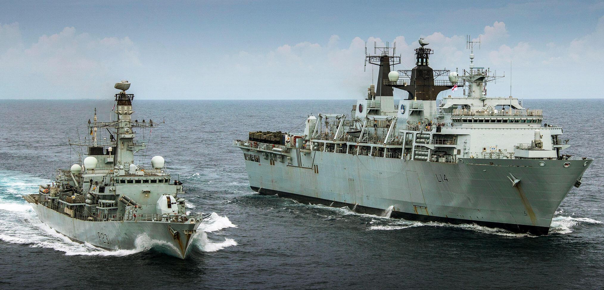 HMS Albion and HMS Argyll