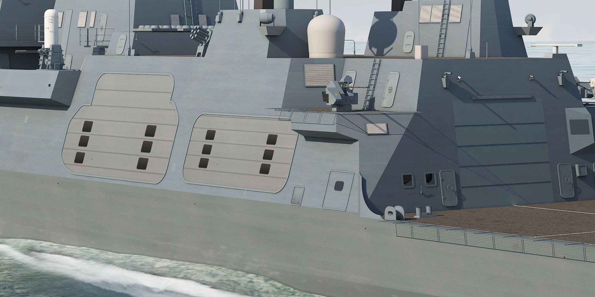 Type 26 Frigate Port Quarter