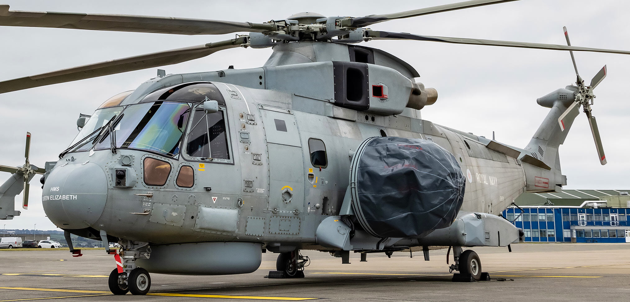 First Crowsnest-equipped airborne surveillance and control helicopter goes into service with the Royal Navy