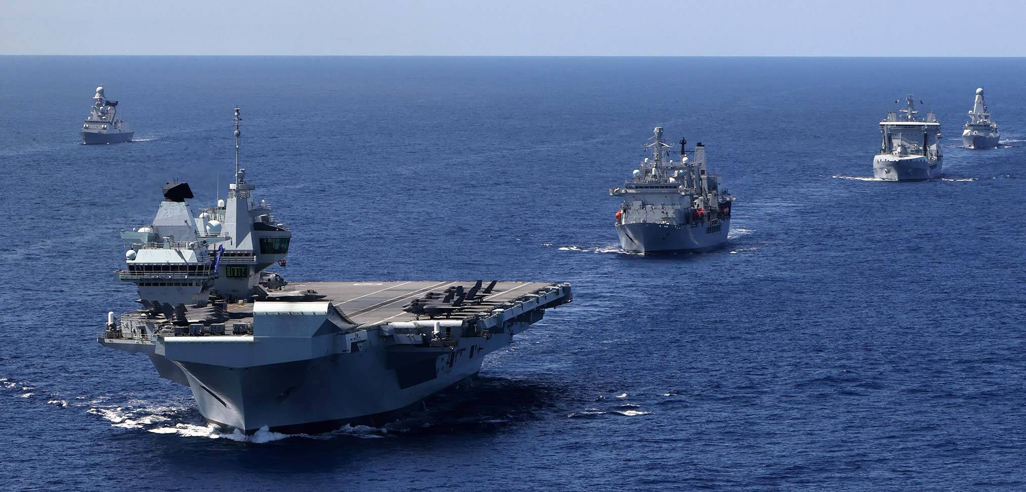 Photo essay – 10 hectic days for the Royal Navy's carrier strike group