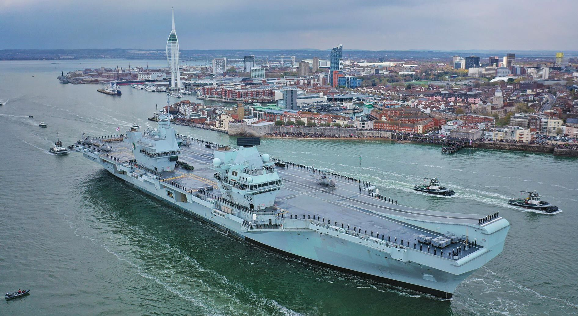 The UK Carrier Strike Group sets sail