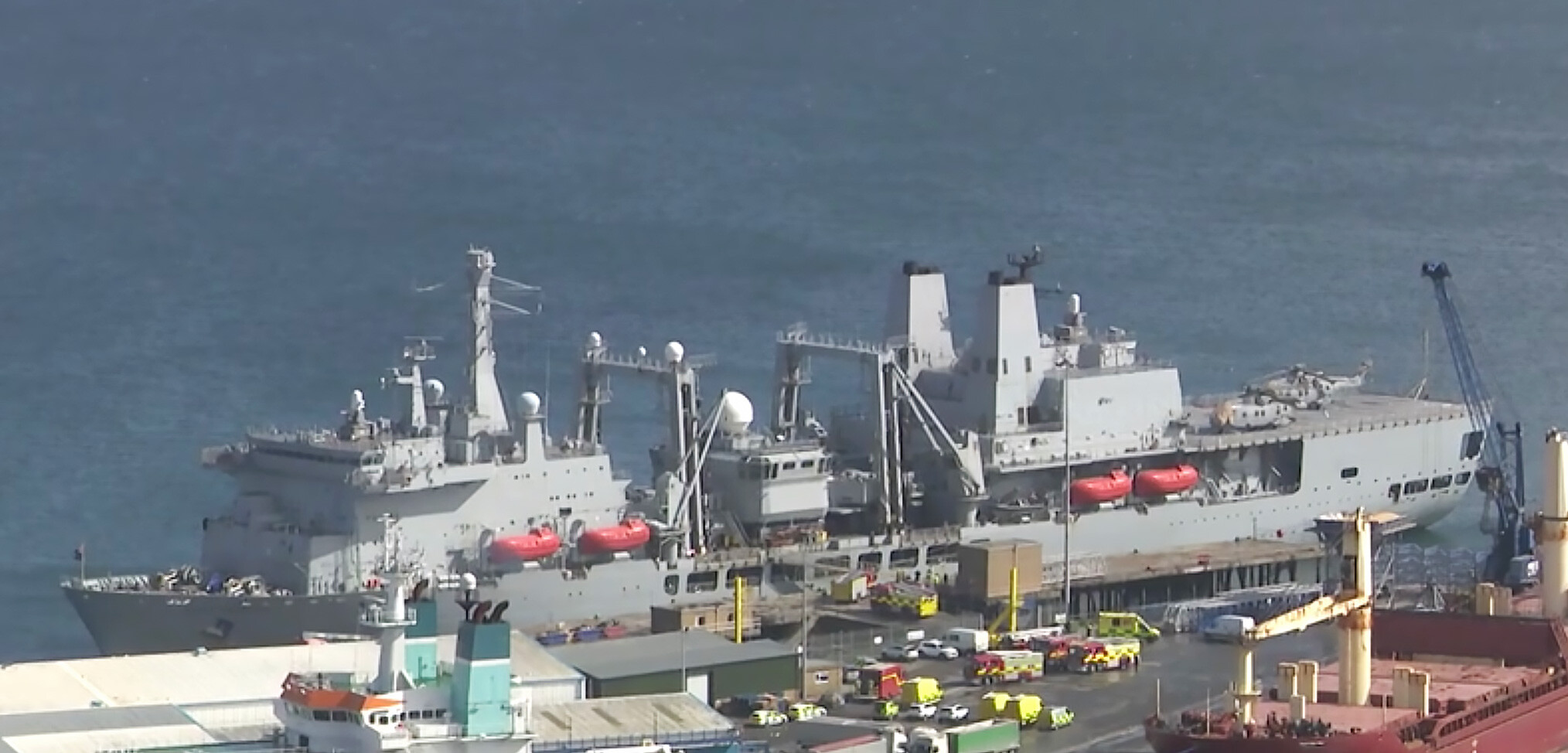 Minor fire onboard RFA Fort Victoria – highlights single point of failure for Carrier Strike Group